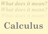Meaning calculus
